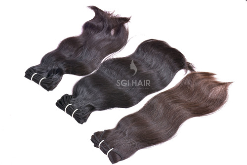 Indian Temple Machine Weft Straight Hair