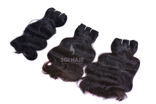 Indian Temple Machine Weft Wavy Hair