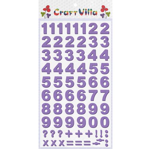 Craft Villa Numeric Foam Sticker