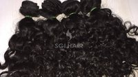 Indian temple Machine weft natural Curly hair