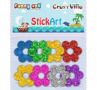 Craft Villa Glitter Shapes Sticker