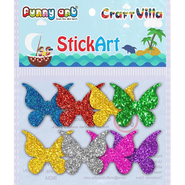 Craft Villa Glitter Shapes Sticker