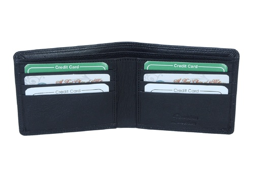 Black Leather Soft Wallet