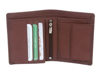 Notecase Brown Leather wallet with zip