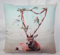 Deer Print Cushion Cover