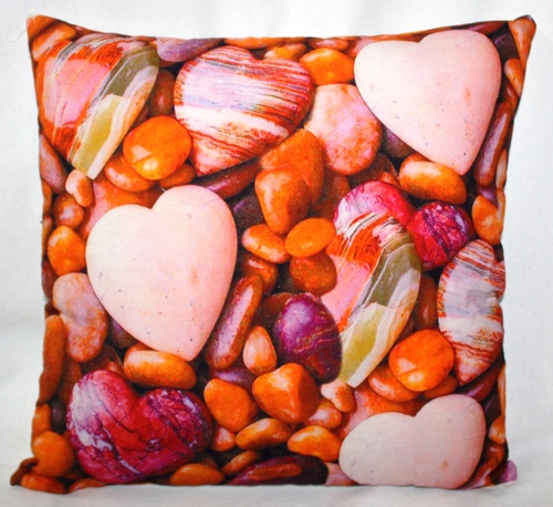 Multicolor Stones Print Cushion Cover