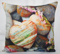 Heart Stones Printed Cushion Cover