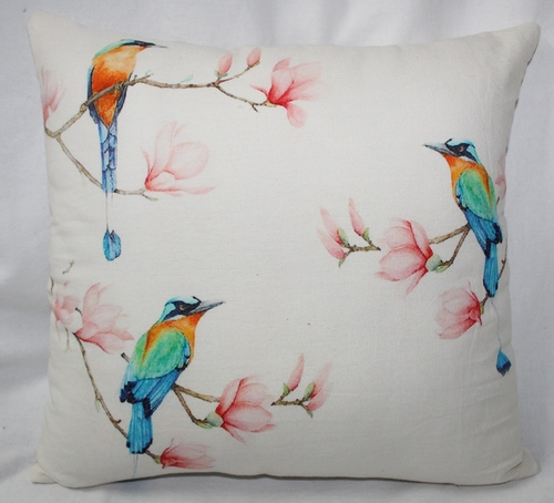 Birds Print Cushion Cover