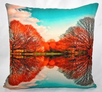 Tree & Sky Printed Cushion Cover