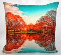 Tree & Sky Printed Cushion Cover