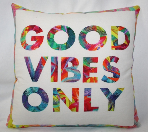 Positive Quotes Printed Cushion Cover