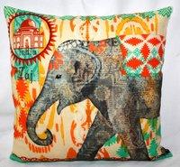 Elephant Printed Cushion Cover
