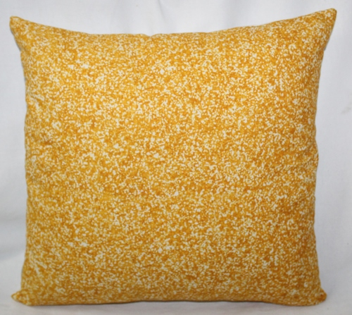 Yellow &  White Dots Printed Cushion Cover