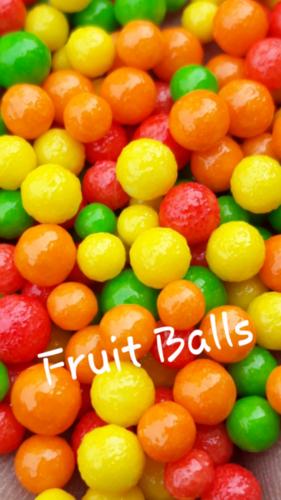FRUIT FLAVOURED SUGAR BALLS