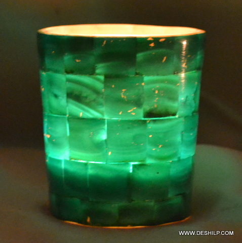 Beautiful Set Glass Candle Holder