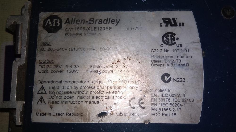 ALLEN BRADLEY POWER SUPPLY