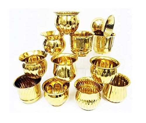 Set of Brass Planter
