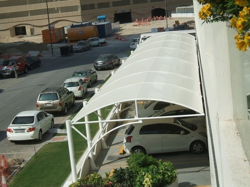 Tensile car parking structure