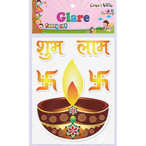 Craft Villa Glare Shubh Labh Printed Sticker