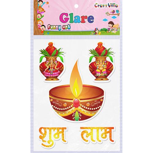 Craft Villa Glare Kalash Design Printed Sticker