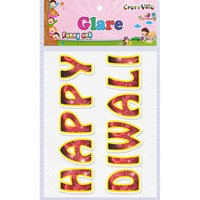 Craft Villa Glare Happy Diwali Printed Sticker
