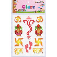 Craft Villa Glare Small Ganesha Printed Sticker