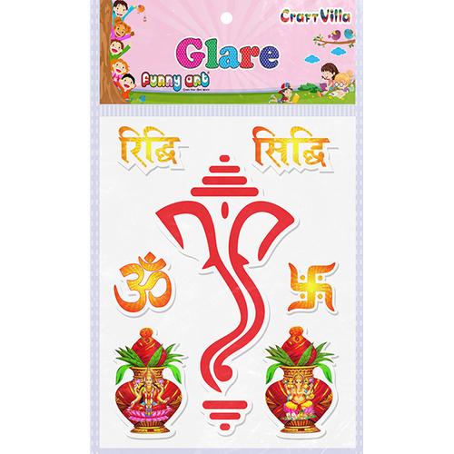 Craft Villa Glare Ganesha Big Printed Sticker