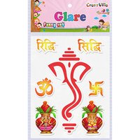 Craft Villa Glare Ganesha Big Printed Sticker