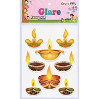 Craft Villa Glare Diya 01 Printed Sticker