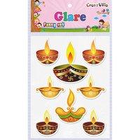 Craft Villa Glare Diya 02 Printed Sticker