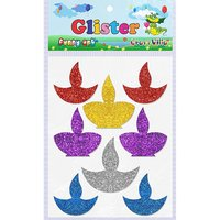 Craft Villa Glister Diya Glitter Sticker