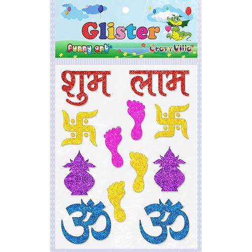 Craft Villa Glister Shubh Labh Glitter Sticker