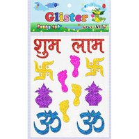 Craft Villa Glister Shubh Labh Glitter Sticker