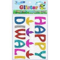 Craft Villa Glister Happy Diwali Glitter Sticker