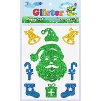 Craft Villa Glister Santa Face Glitter Sticker