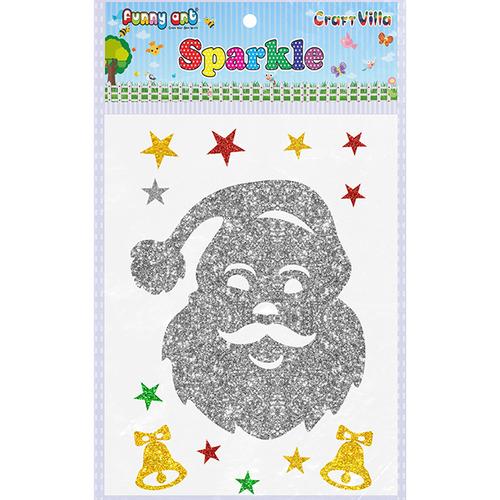 Craft Villa Sparkle Santa Face Glitter Sticker