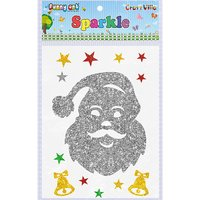 Craft Villa Sparkle Santa Face Glitter Sticker