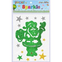 Craft Villa Sparkle Christmas Santa Glitter Sticker