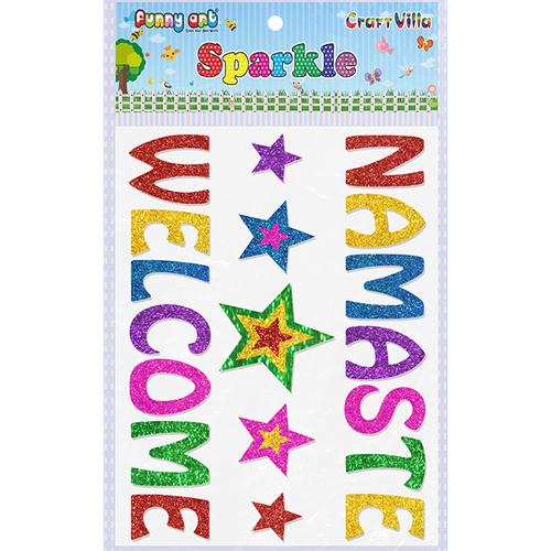 Craft Villa Sparkle Namaste Welcome Glitter Sticker
