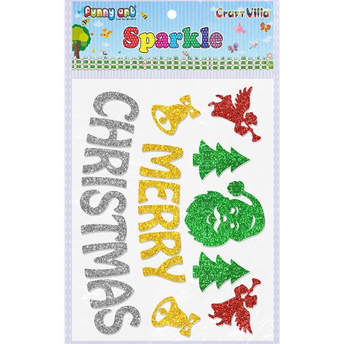 Craft Villa Sparkle Merry Christmas Glitter Sticker