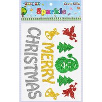 Craft Villa Sparkle Merry Christmas Glitter Sticker