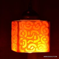 Mosaic glass chandelier lantern hanging lamp light Onion Lamp Hanging Moroccan Lantern Lighting