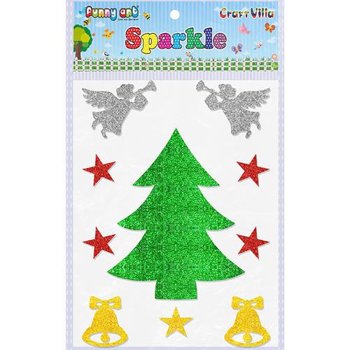 Craft Villa Sparkle Christmas Tree 01 Glitter Sticker