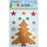 Craft Villa Sparkle Christmas Tree 02 Glitter Sticker