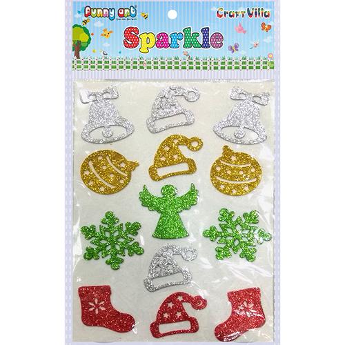 Craft Villa Sparkle Christmas Mix Glitter Sticker