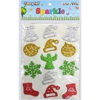 Craft Villa Sparkle Christmas Mix Glitter Sticker