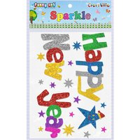 Craft Villa Sparkle Happy New Year Glitter Sticker