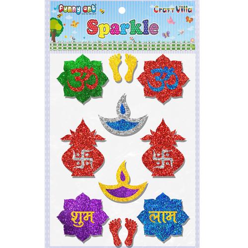 Craft Villa Sparkle Diwali Mix Glitter Sticker
