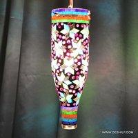 Multicolour Turkish Mosaic Hanging Lamp Light Hand Craft Medium Globe