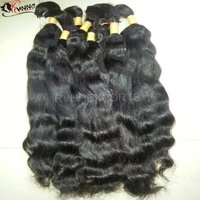 High Quality Bulk Bundles Virgin 100% Natural Indian Human Hair